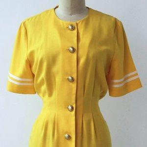K.C. Spencer Dresses - Vintage Yellow Minidress